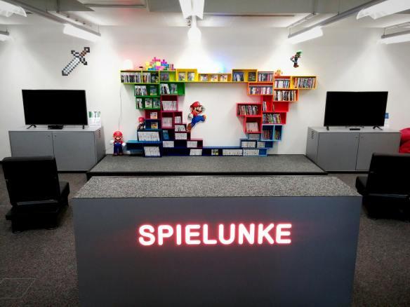 Gamingbereich der Stadtbibliothek Neuss