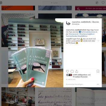 Münchner Stadtbibliothek Instagram - https://www.instagram.com/p/BekcHqyhk7k/