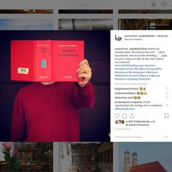 Münchner Stadtbibliothek Instagram - https://www.instagram.com/p/BpZaH6PF_Cn/
