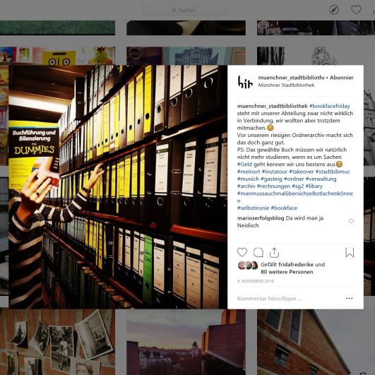 Münchner Stadtbibliothek Instagram vom 09.11.2018 - https://www.instagram.com/p/Bp9lqBnFoEV/