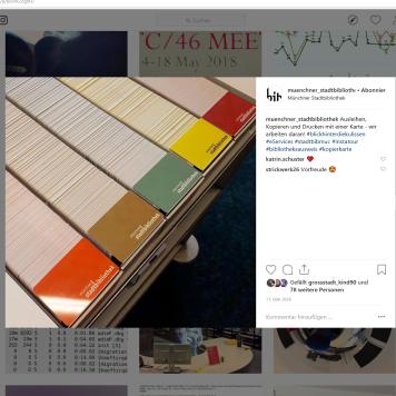Münchner Stadtbibliothek Instagram vom 11.05.2018 - https://www.instagram.com/p/BioVAZogIIH/