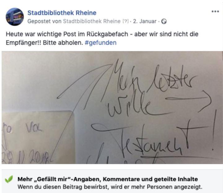 Rheine_Letzter Wille